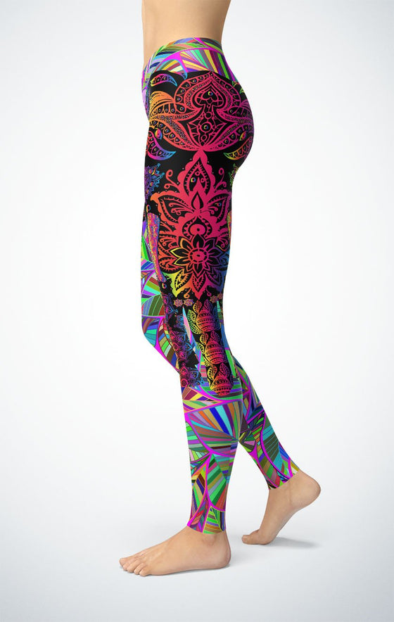 Colorful Elephant Leggings