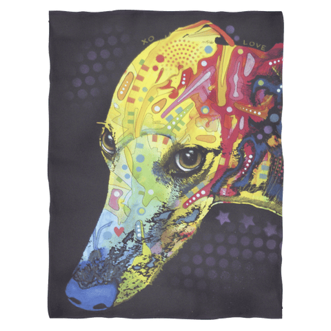Greyhound Fleece Blanket V2