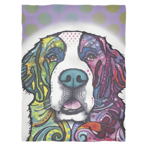 St Bernard Fleece Blanket V2