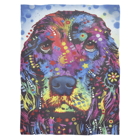 Cocker Spaniel Fleece Blanket