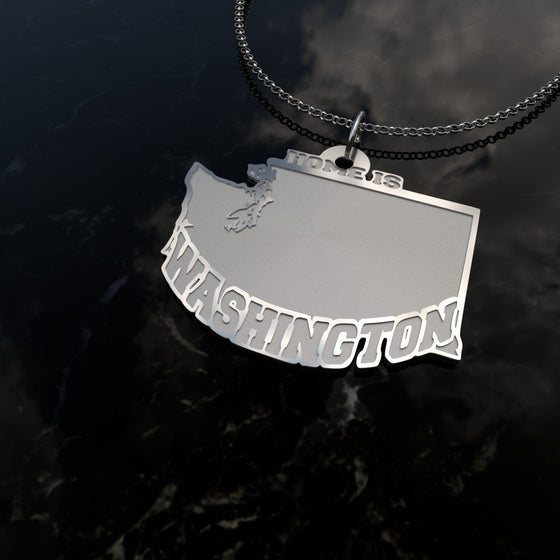 Home Is Washington - [Solid 925 Sterling Silver]