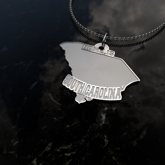 Home Is South Carolina - [Solid 925 Sterling Silver]