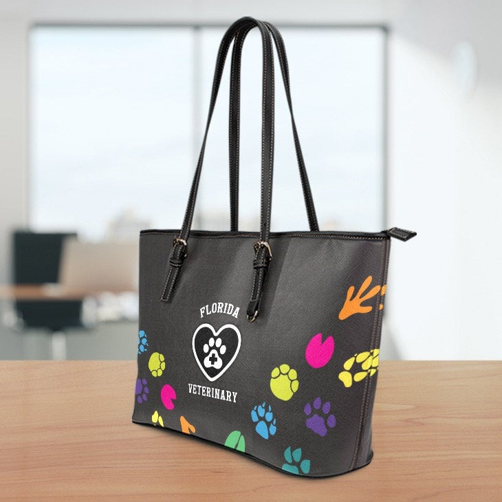 Florida Veterinary Large Leather Tote Bag
