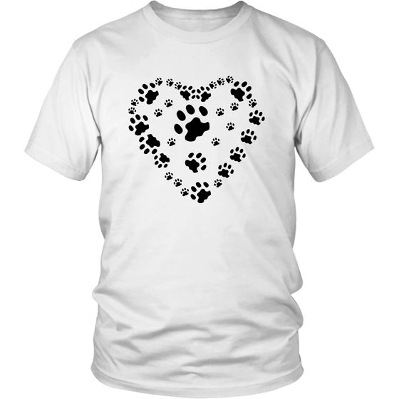 Paws Heart T-Shirt V1 - Shopping Haven