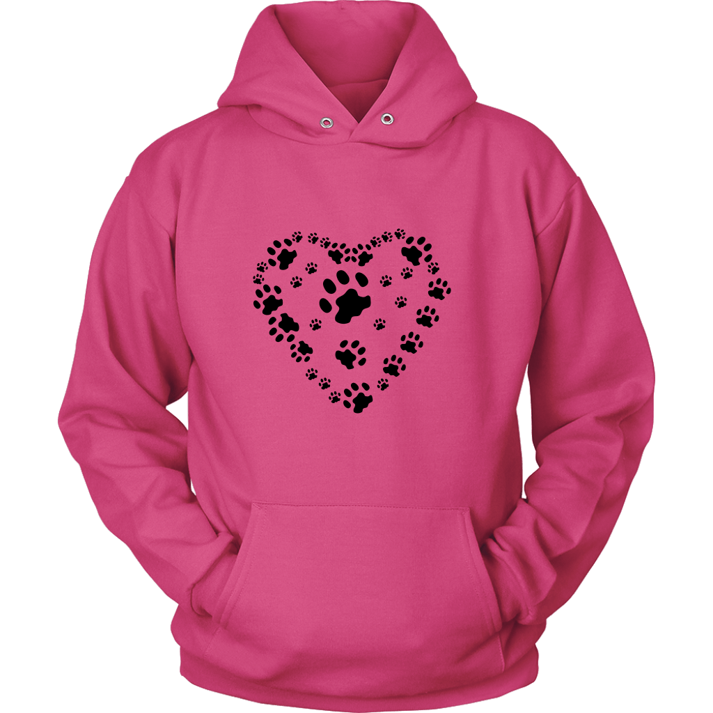 Paws Heart Hoodie V1 - Shopping Haven