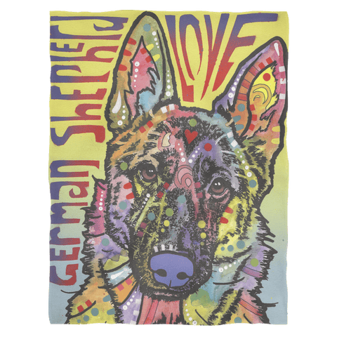 German Shepherd Fleece Blanket V2