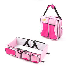 Load image into Gallery viewer, 3-In-1 Travel Diaper Bag, Portable Bassinet & Changing Pad