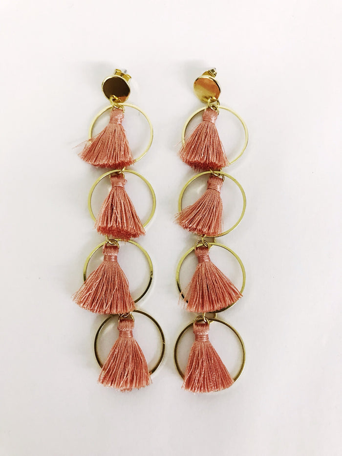 Tassel and Hoop Earrings