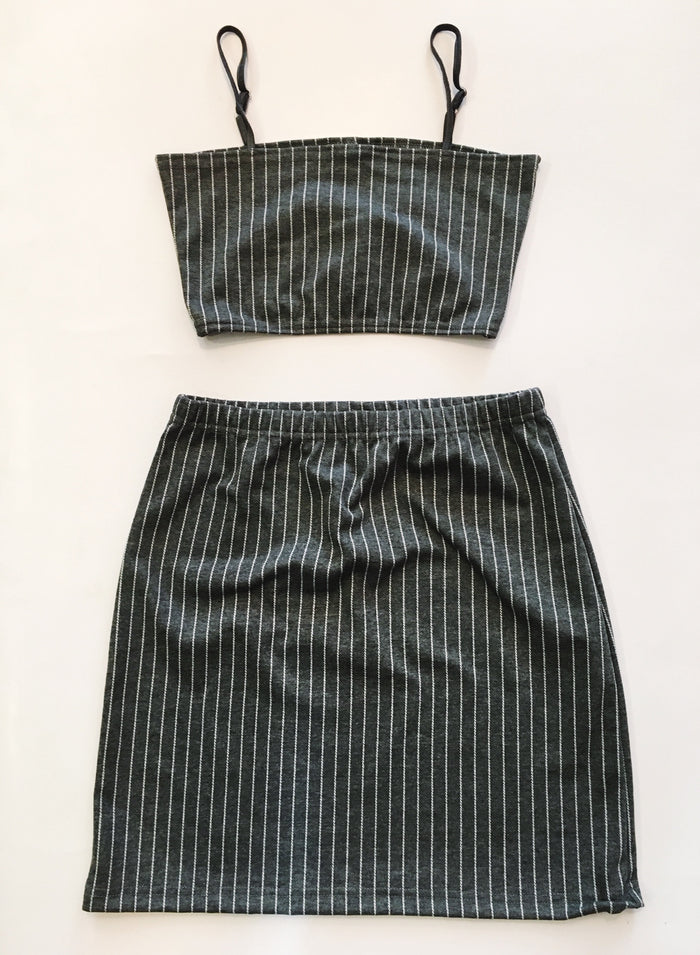 Pin Stripe Set - Grey
