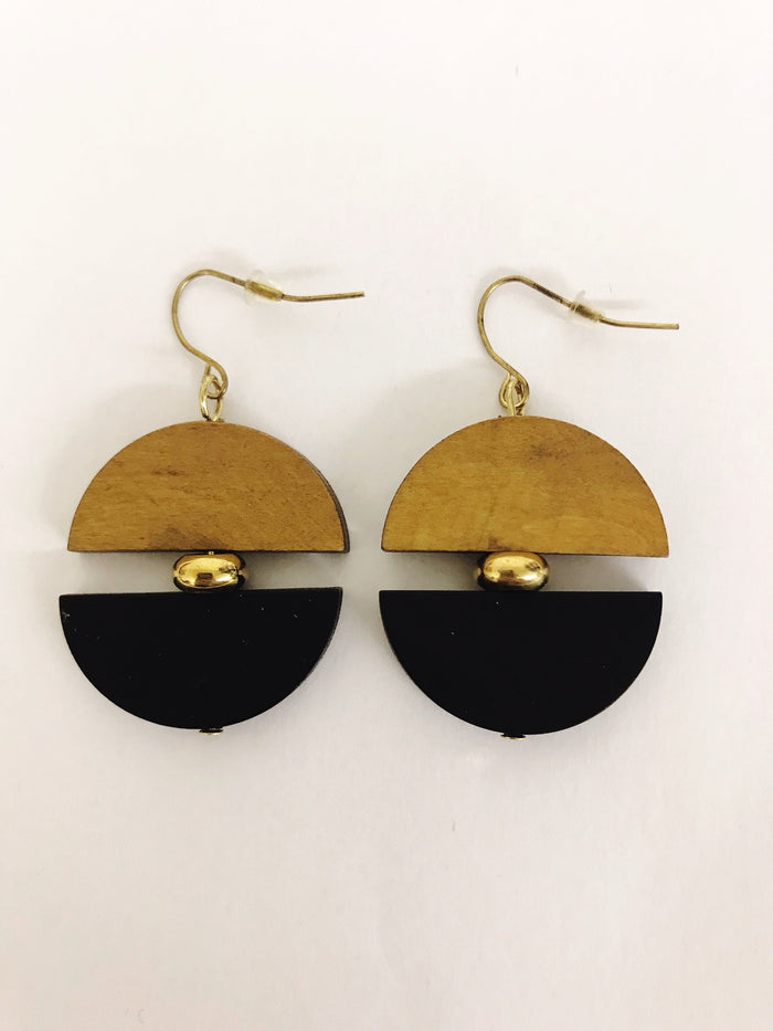 Wooden Earrings (3 Colours)