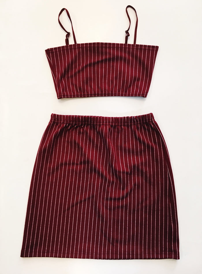 Pin Stripe Set - Red