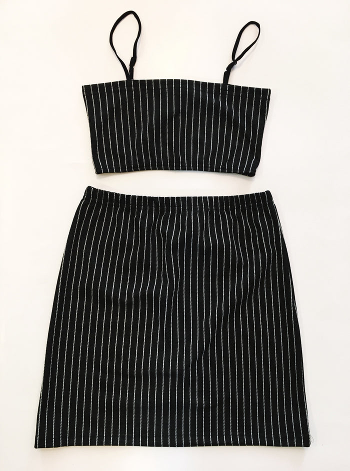 Pin Stripe Set - Black
