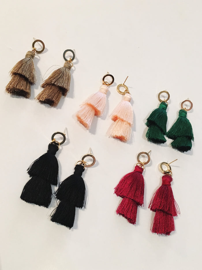 Double Tassle Earrings