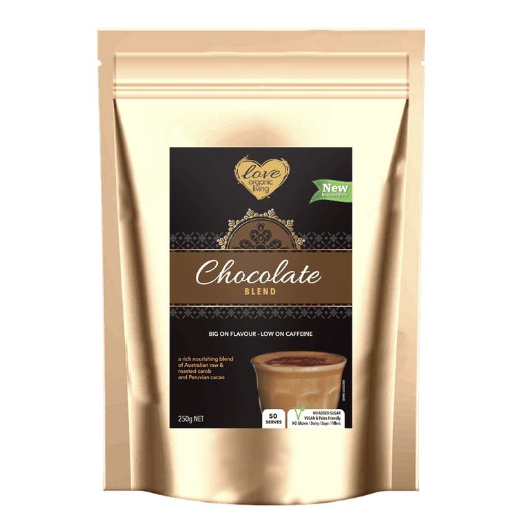 Love Organic Living - Organic Chocolate Blend 250g - SUGAR FREE CHOCOLATE ** WINTER WARMER SPECIAL DEAL $5 OFF **