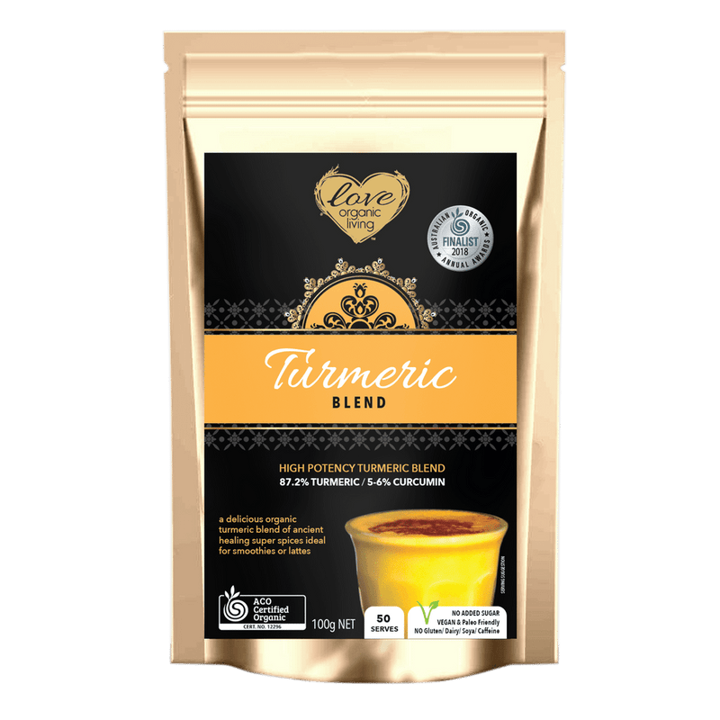 Golden Turmeric Blend 100g - New Improved Blend - 50 serves / 87% Turmeric