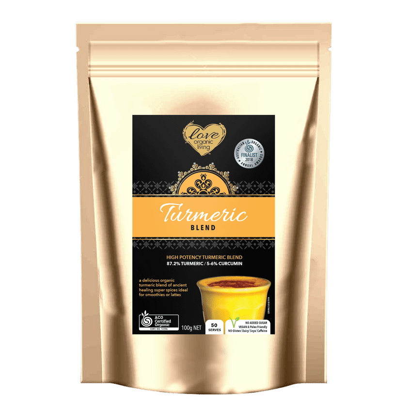 Golden Turmeric Blend 250g - New Improved Blend - 125 serves / 87% Turmeric