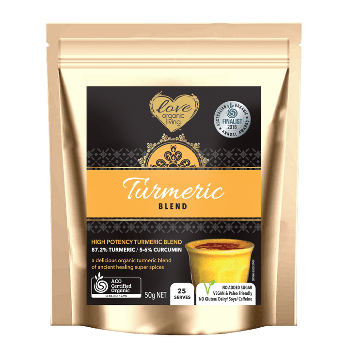 Golden Turmeric Blend 50g (limited time while stocks last) - New Improved Blend - 25 serves / 87% Turmeric