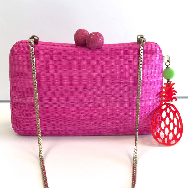 Charlotte Clutch- Hot Pink