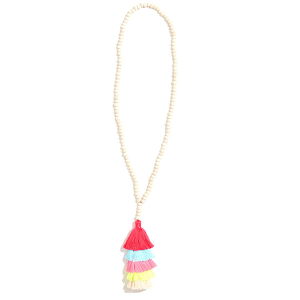 5-Stack Tassel Necklace