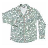 CHARLESTON TAILORED SILK SHIRT TEAL GREEN