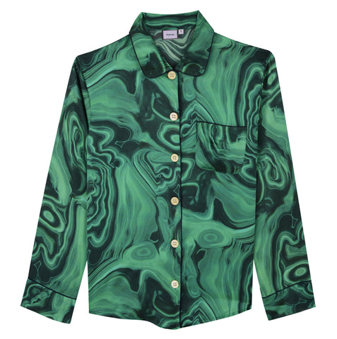 Malachite Silk PJs