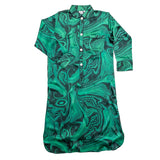 Malachite Silk Nightshirt