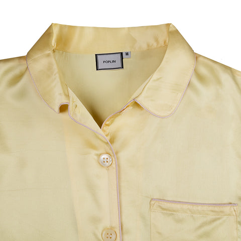 Topaz Yellow Silk Pyjamas