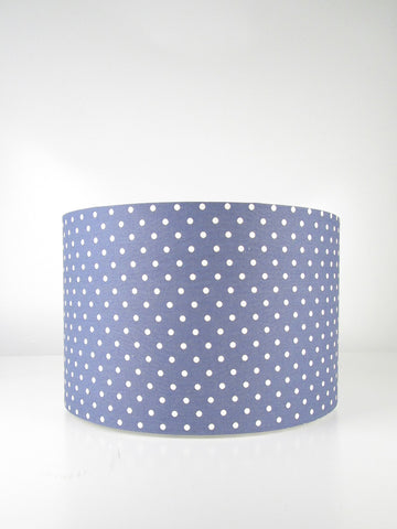 Straight Drum - Blue with Calico Dots