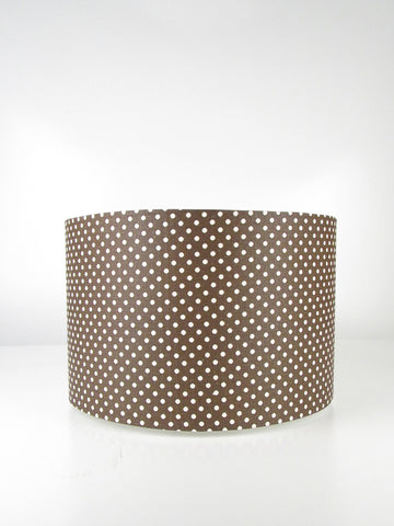 Straight Drum - Chocolate with Calico Dots