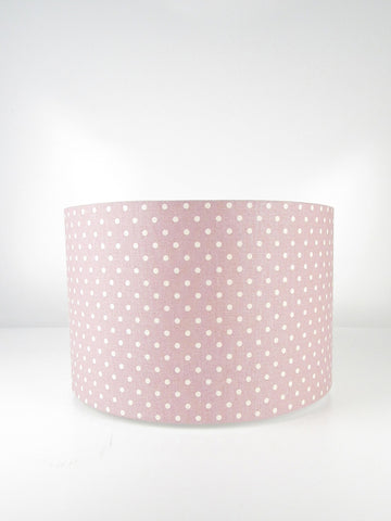 Straight Drum - Dusky Pink with Calico Dots