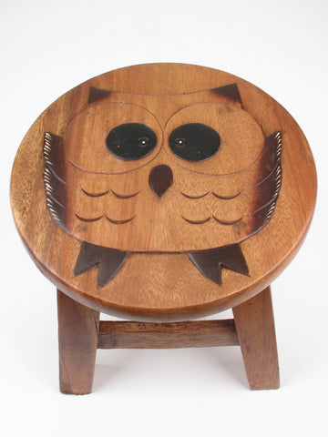 Cute Owl Kiddie Stool