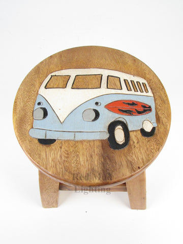 Blue Campavan Stool