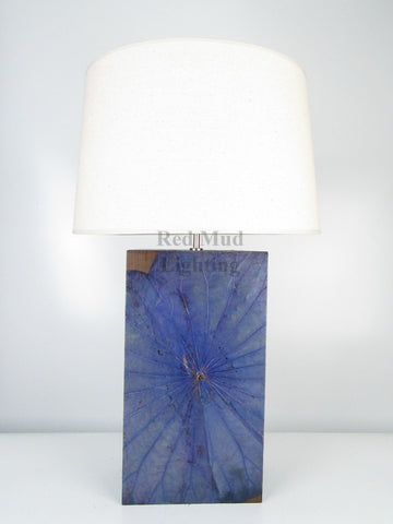 New Lotus Leaf Lamp Large Rectangle Blue