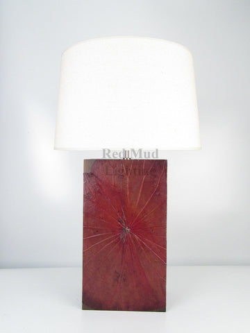 New Lotus Leaf Lamp Large Rectangle Earth Brown