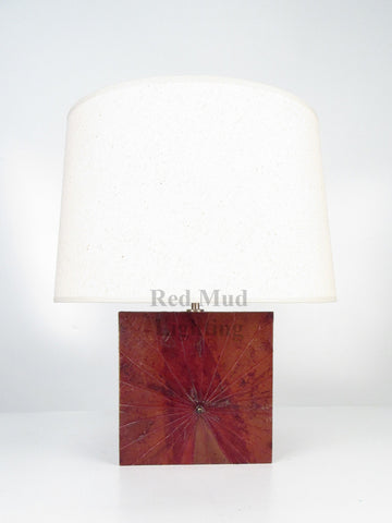 New Lotus Leaf Lamp Large Square Earth Brown
