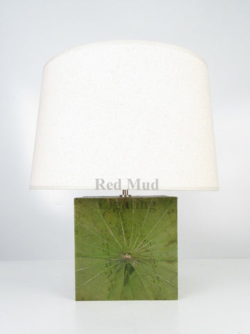 New Lotus Leaf Lamp Large Square Emerald Green