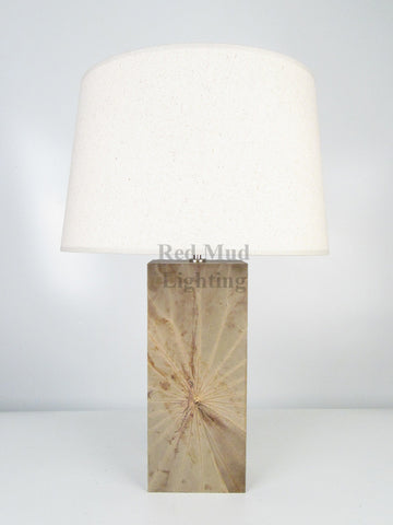New Lotus Leaf Lamp Medium Rectangle Natural