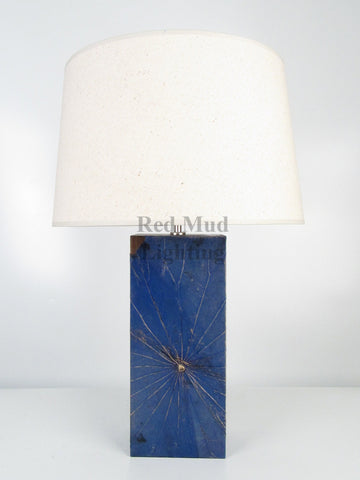 New Lotus Leaf Lamp Medium Rectangle Blue