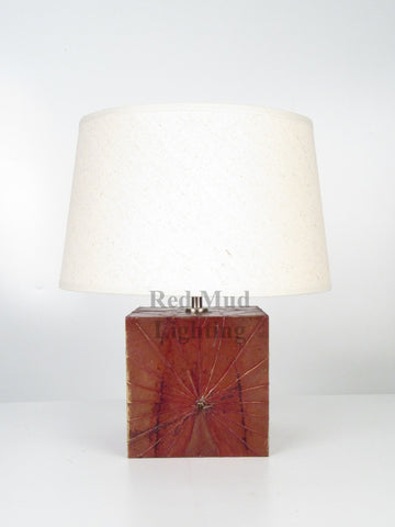 New Lotus Leaf Lamp Medium Rectangle Brown