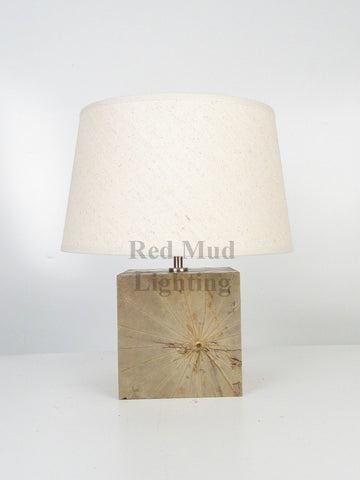 New Lotus Leaf Lamp Medium Square Natural
