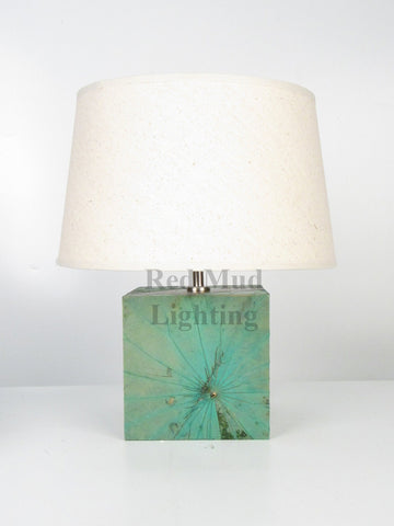 Copy of New Lotus Leaf Lamp Medium Square Light Green
