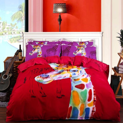 Rustic Giraffe Bedding Set