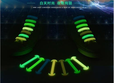 14Pcs Luminous Silicone No Tie Shoelace