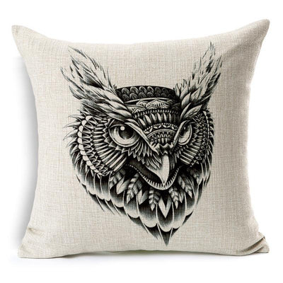 Rustic Owl Pillow Case