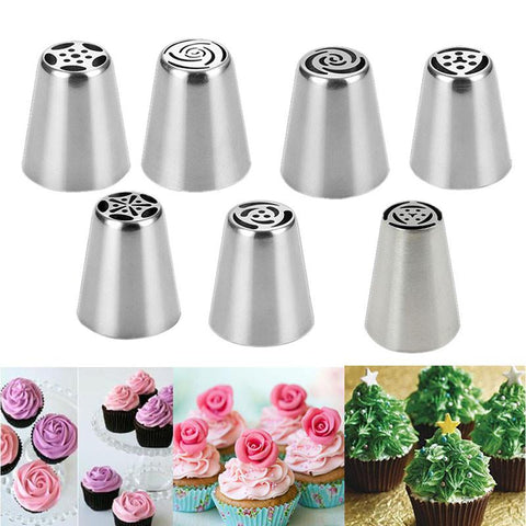 Russian Tulip Flower Piping Tip 7pcs Set
