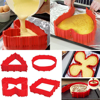 DIY Snake Cake Mold 4Pcs Set