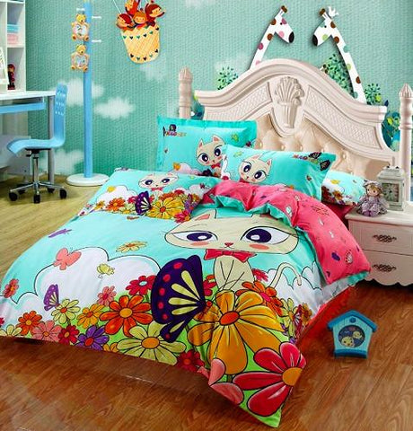 100% Cotton Kitty Bedding Set