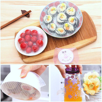 4Pcs Reusable Silicone Food Wrap Set