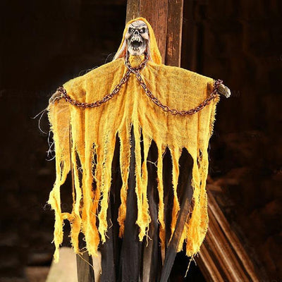 Strange and Creepy Hanging Skeleton Ghost Halloween Horror Prop