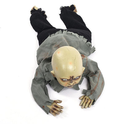 Electric Crawl Zombie Glowing Eyes Baby Halloween Decoration